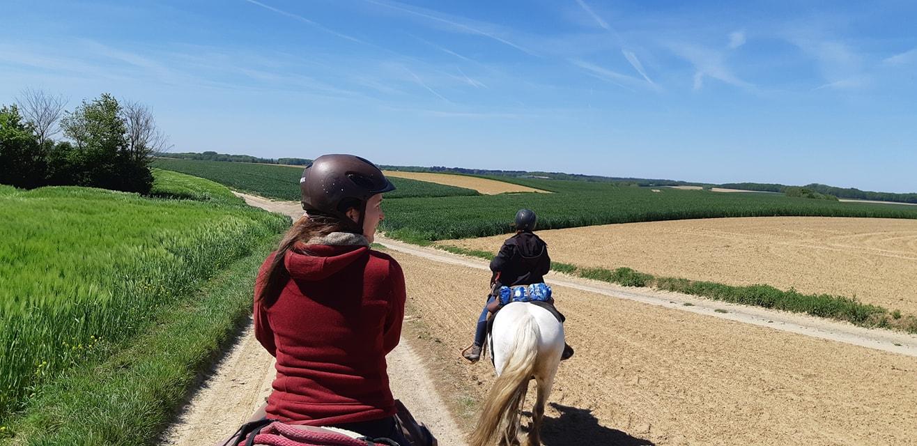 In beeld: Drielandentocht te paard